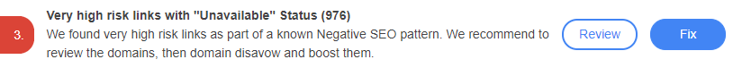 Protect yourself from known Negative SEO Patterns