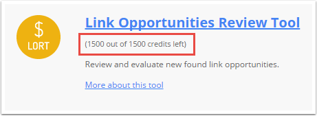 One link costs one credit