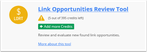 What happens when I run low on Credits?