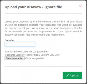 5. Import Disavow File