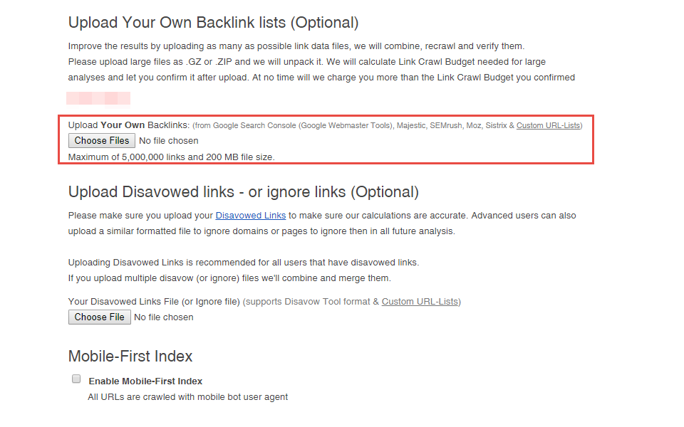 6. Import Backlink Data Files