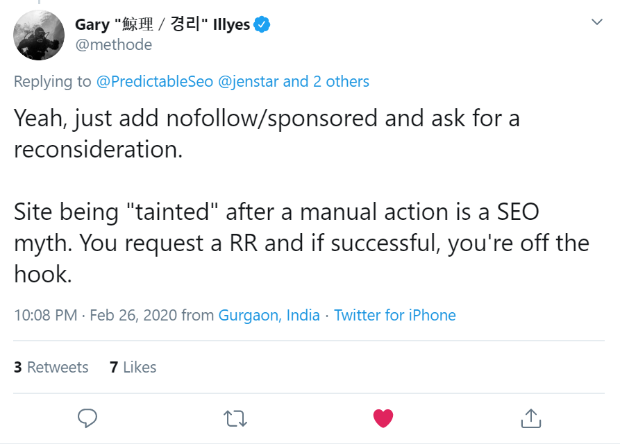 Important SEO statements by Google