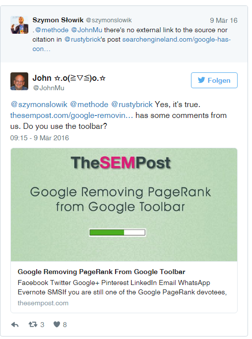 Google Removed the Toolbar PageRank