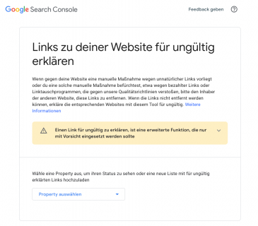 4. Export der Disavow-Datei in die Google Search Console
