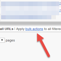 How to bulk select URLs for disavow?