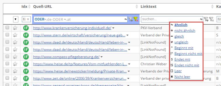 Link Filter