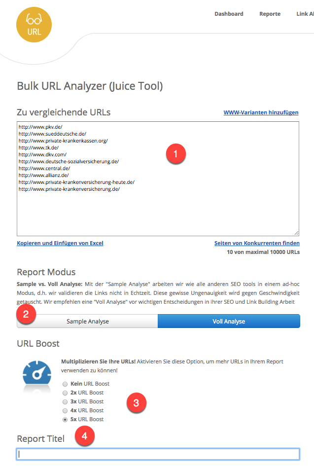 Bulk URL Analyzer (URL)