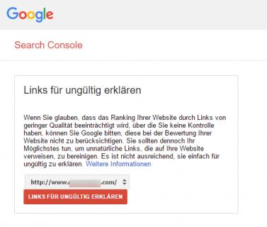 1. Herunterladen Ihrer Disavow-Datei von der Google Search Console
