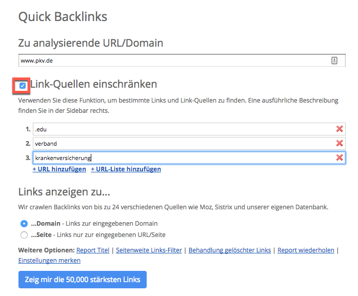 Quick Backlink Checker Tool (QBL)