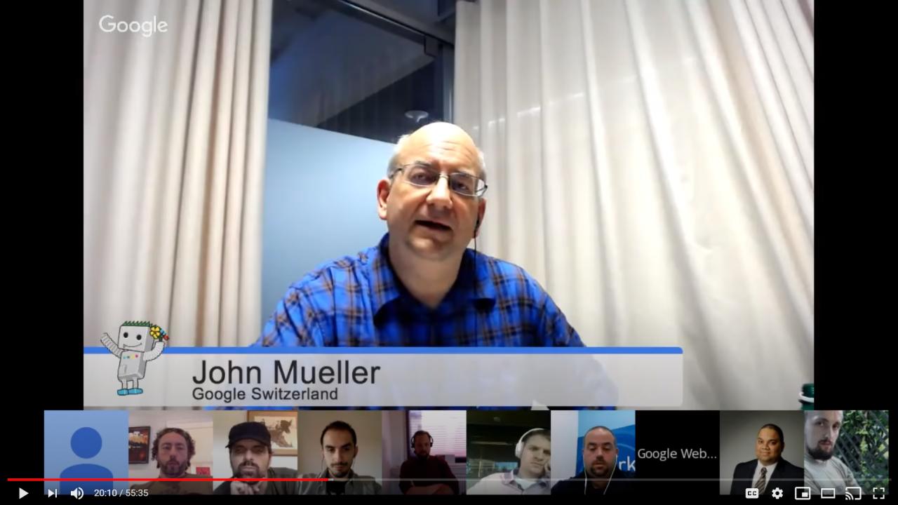 John Muller 2016 on disavowed links