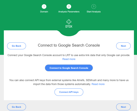 Google Search Console Integration in LinkResearchTools Smart