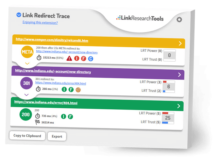 Link Redirect Trace Browser Extension
