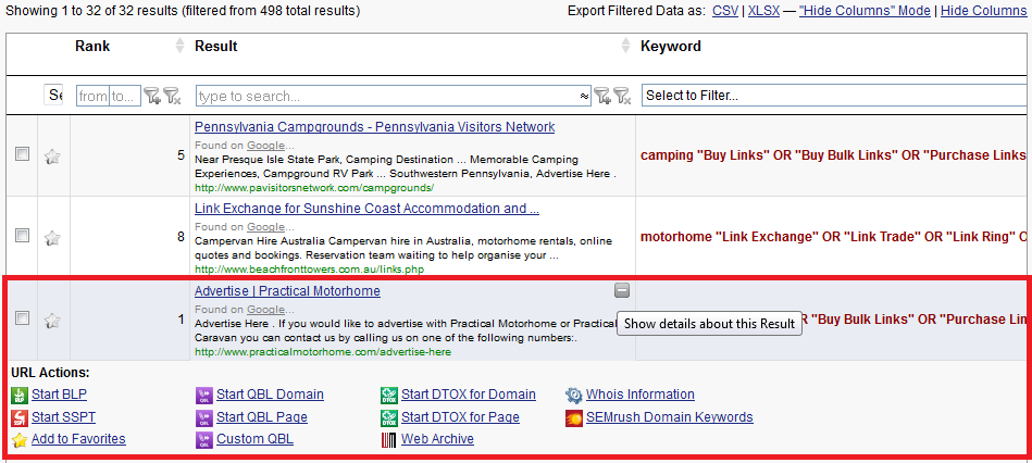 Expand Serp Result