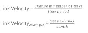 what are link velocity trends example